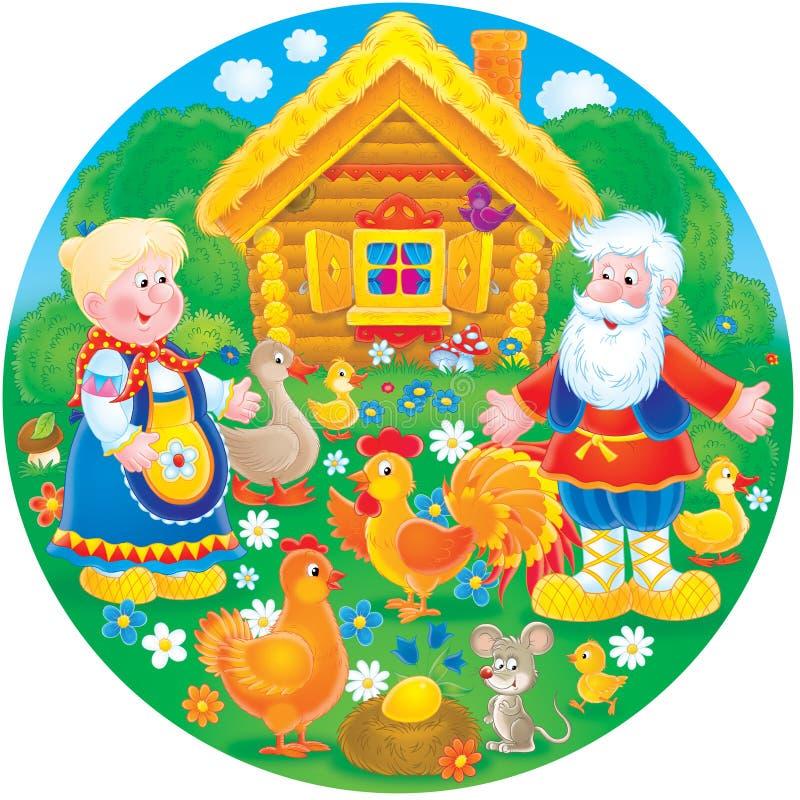 ich babcia rolny dziadunio royalty ilustracja