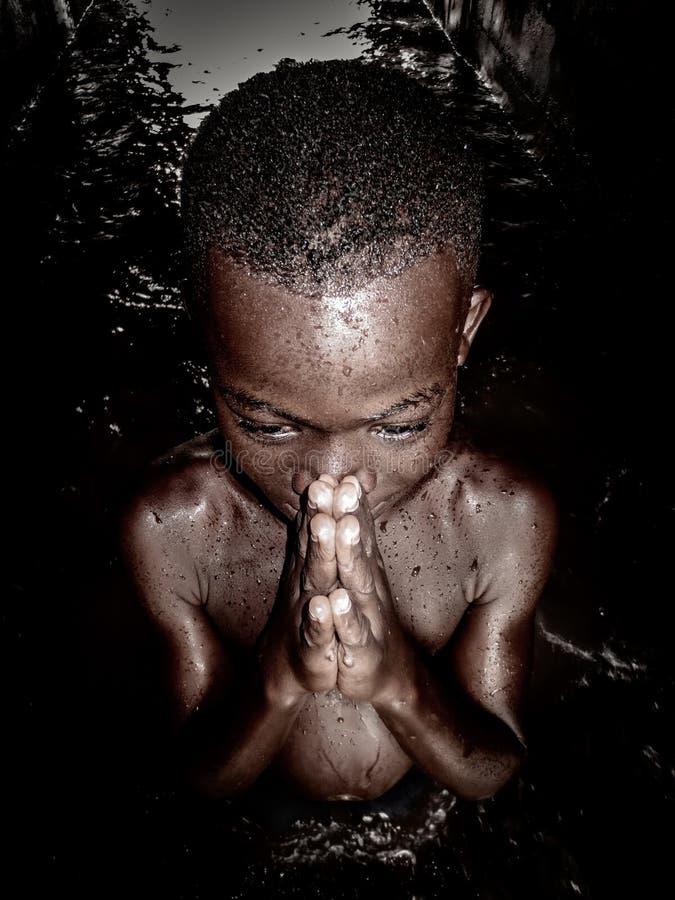 Ich bete! stockfotografie