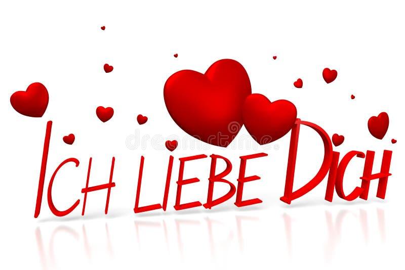 ich 3d liebe dich ich liebe dich deutscher stock abbildung illustration von liebe innere. Black Bedroom Furniture Sets. Home Design Ideas