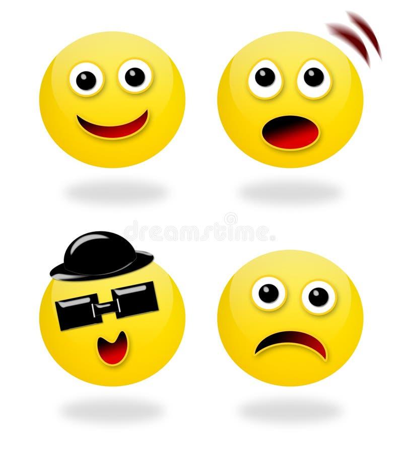 ich emoticons uczucia royalty ilustracja