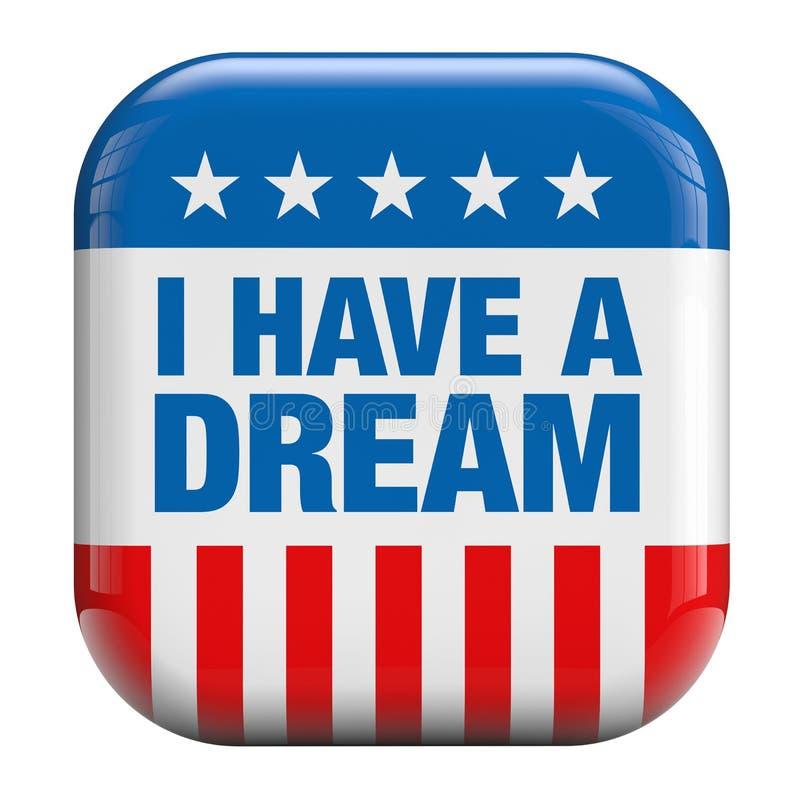 Ich habe einen Traum stock abbildung