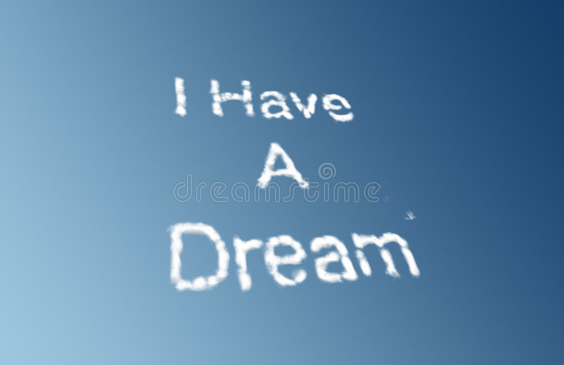 Ich habe Wolken eines Traums vektor abbildung