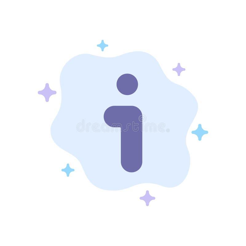 Ich, Informationen, Informationen, Schnittstellen-blaue Ikone auf abstraktem Wolken-Hintergrund lizenzfreie abbildung