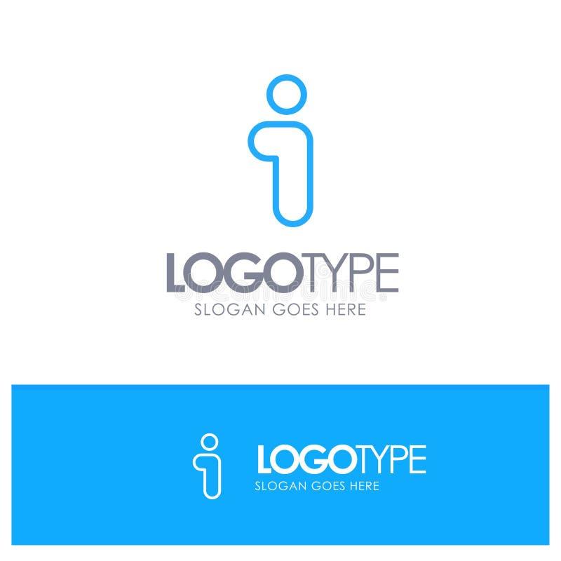 Ich, Informationen, Informationen, Schnittstellen-blauer Entwurf Logo Place für Tagline stock abbildung
