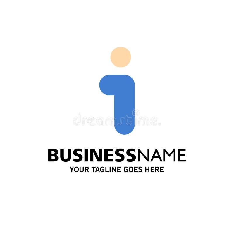 Ich, Informationen, Informationen, Schnittstellen-Geschäft Logo Template flache Farbe lizenzfreie abbildung