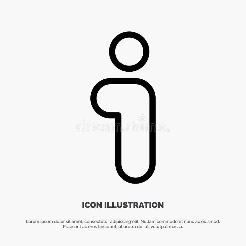 Ich, Informationen, Informationen, Schnittstellen-Linie Ikonen-Vektor stock abbildung