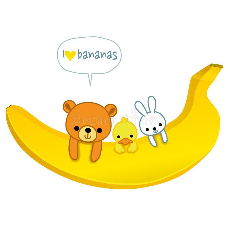 Ich liebe Bananen lizenzfreie abbildung