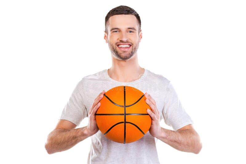 Ich liebe Basketball stockfoto