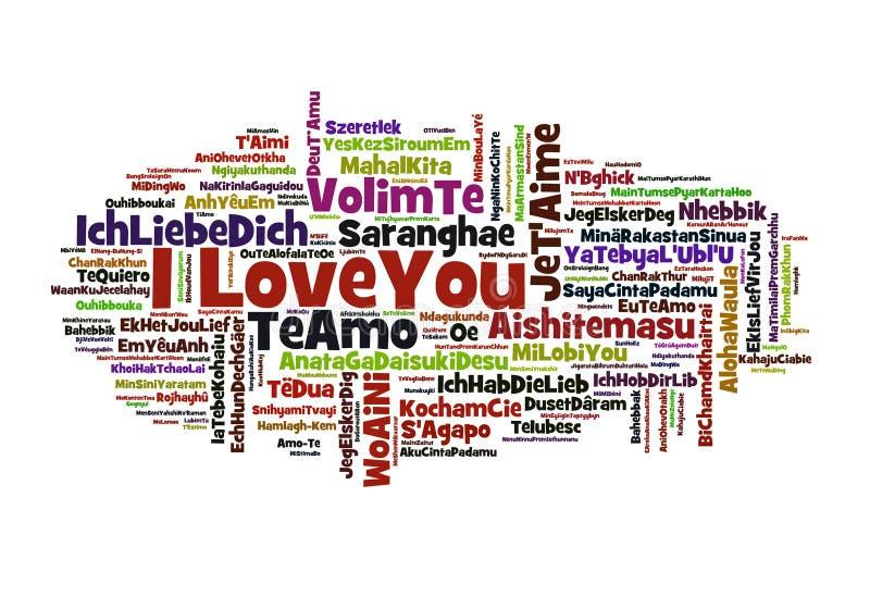 Ich liebe dich vektor abbildung