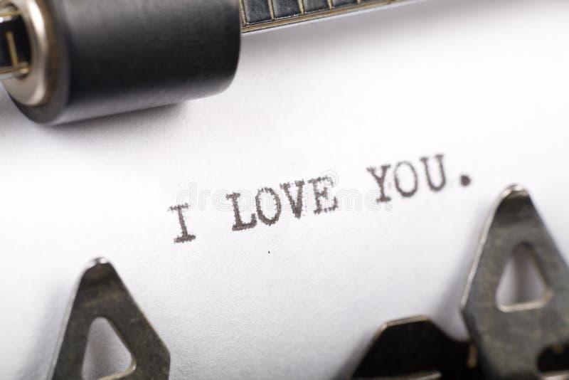 Ich liebe dich stockbild