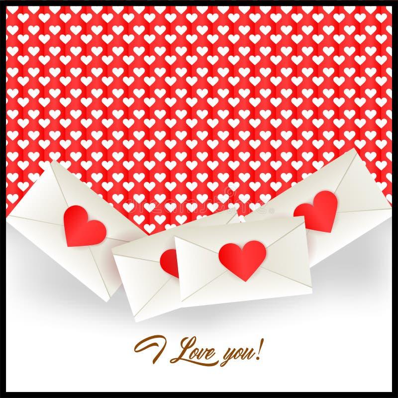 Ich liebe dich beschriften und Postumschläge vektor abbildung
