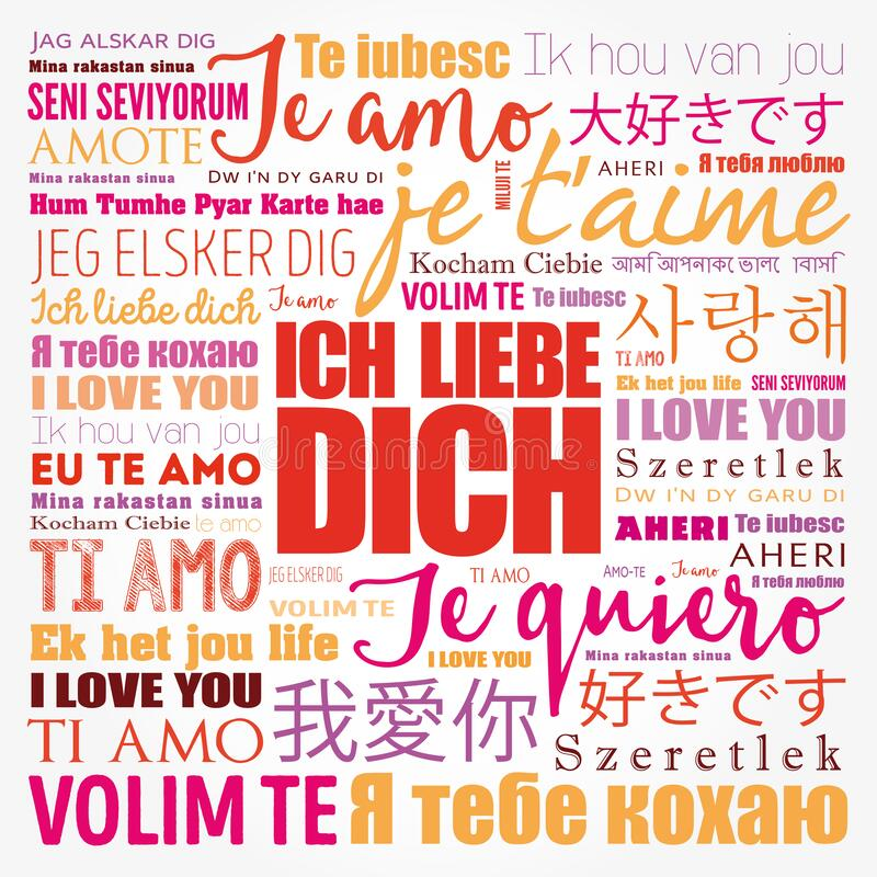 ICH LIEBE DICH I Love You In German In Different Languages