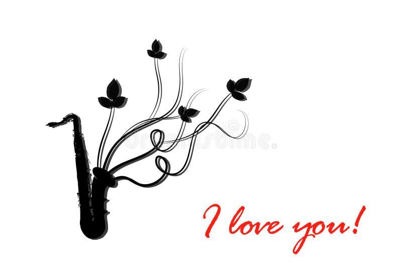 Ich liebe dich. Musikinstrument lizenzfreie abbildung