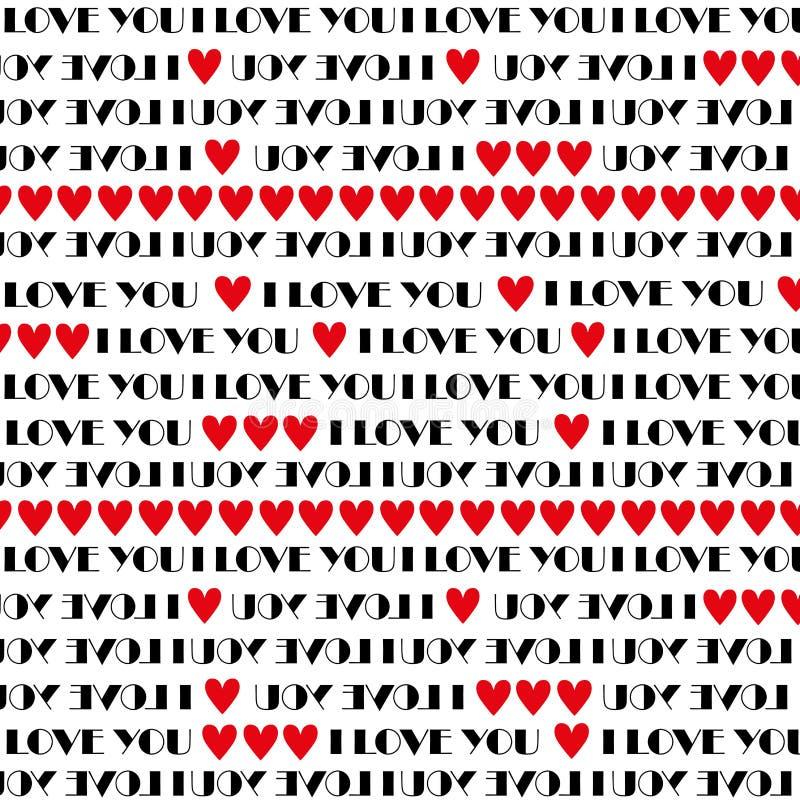Ich liebe dich Muster stockfoto
