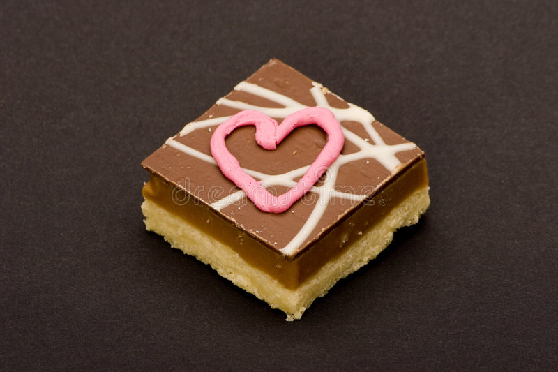 Ich liebe dich Schokoladen stockbild