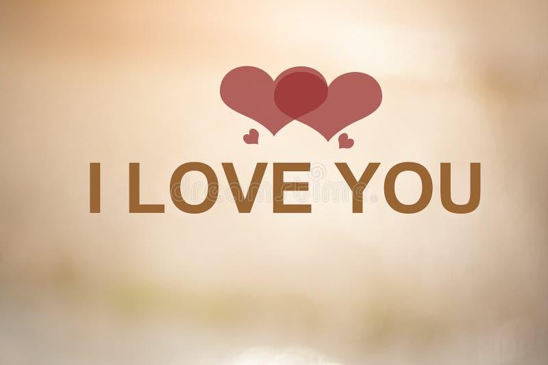 Ich liebe dich und der Hintergrund stockbild