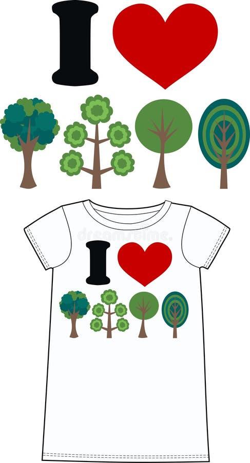 Download Ich liebe die Natur stock abbildung. Illustration von zeichnungen - 26362456
