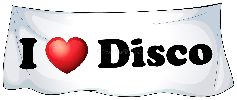 Ich liebe Disco stock abbildung