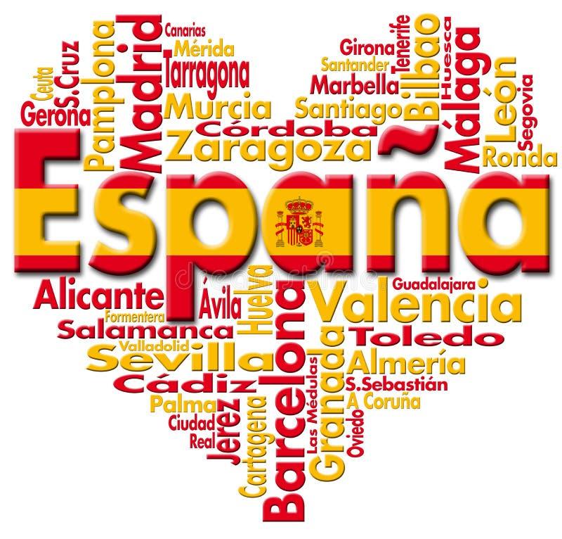Ich liebe España vektor abbildung