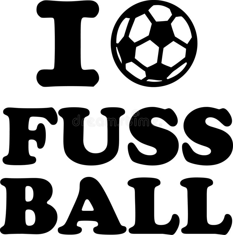 Ich liebe Fussball. Vector sports royalty free illustration