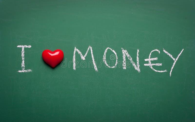Ich Liebe Geld Und Sie Lieben Mich Stockfoto - Bild von