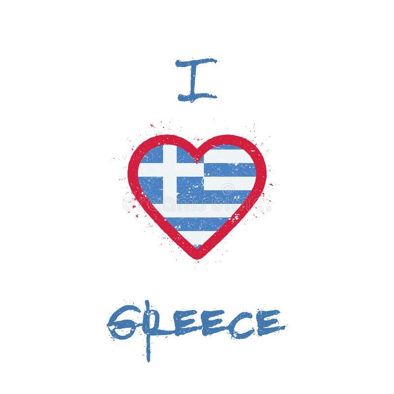 Ich liebe Griechenland-T-Shirt Design stock abbildung
