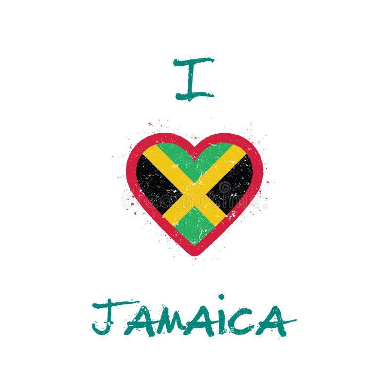 Ich liebe Jamaika-T-Shirt Design lizenzfreie abbildung