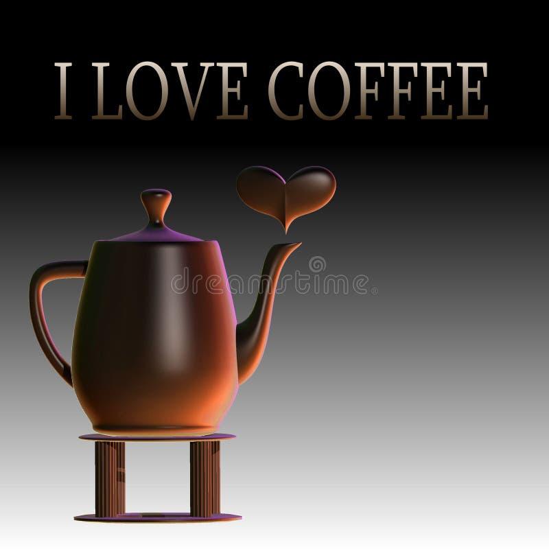 Ich liebe Kaffee lizenzfreie abbildung