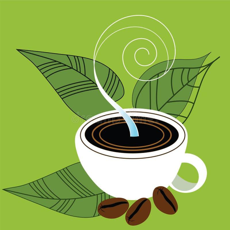 Ich liebe Kaffee stock abbildung