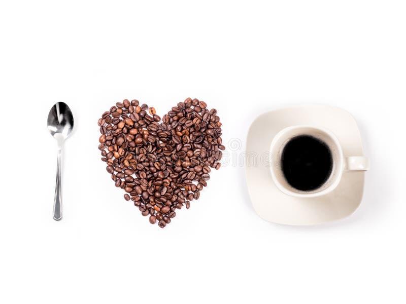 Ich liebe Kaffeekonzept lizenzfreie stockbilder