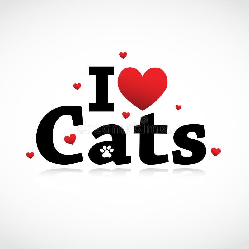Ich liebe Katzeikone. lizenzfreie abbildung
