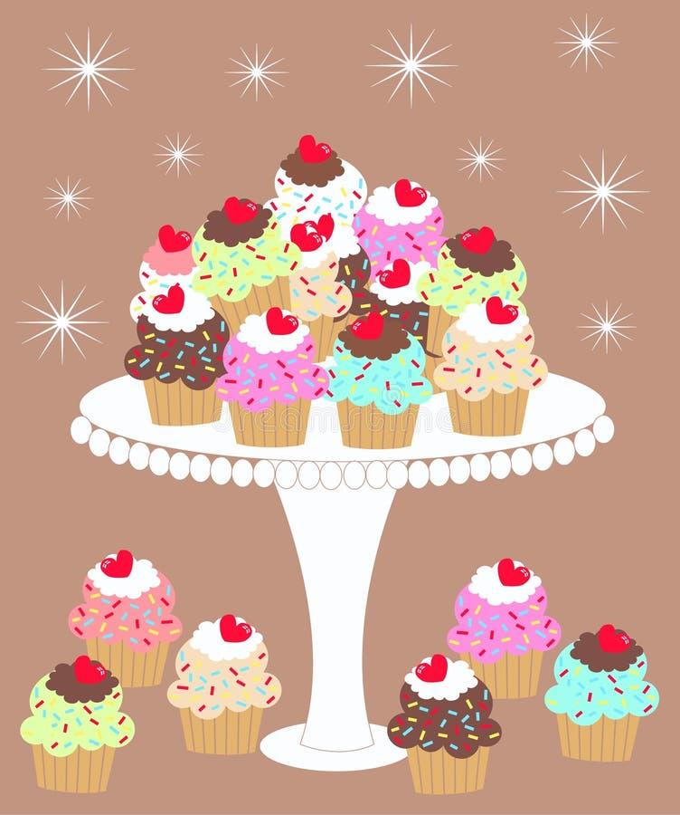 Ich liebe kleine Kuchen lizenzfreie abbildung