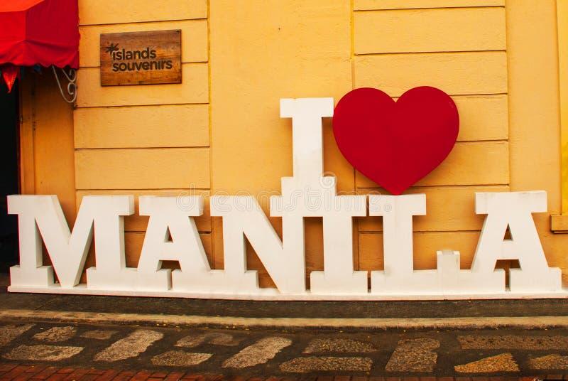 Ich liebe Manila, Philippinen lizenzfreies stockbild