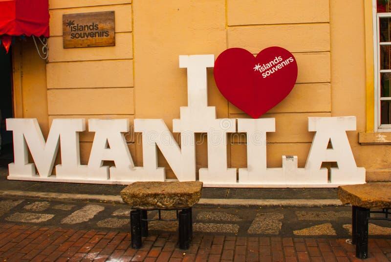 Ich liebe Manila, Philippinen stockfoto