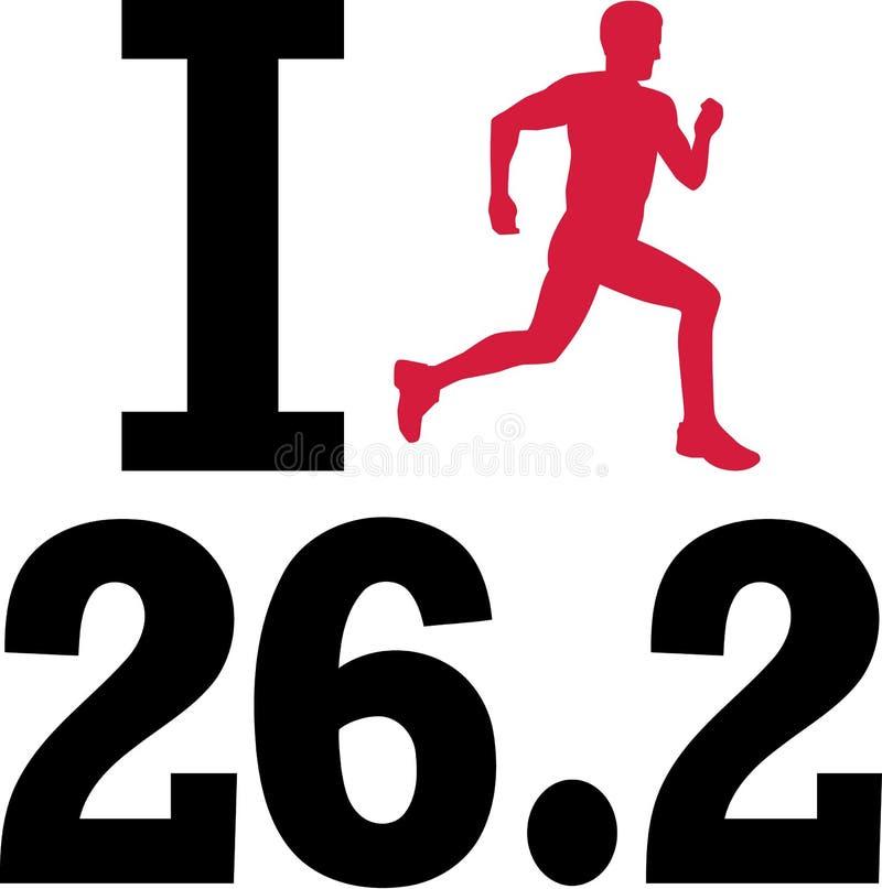 Ich liebe 26 Marathon 2 stock abbildung