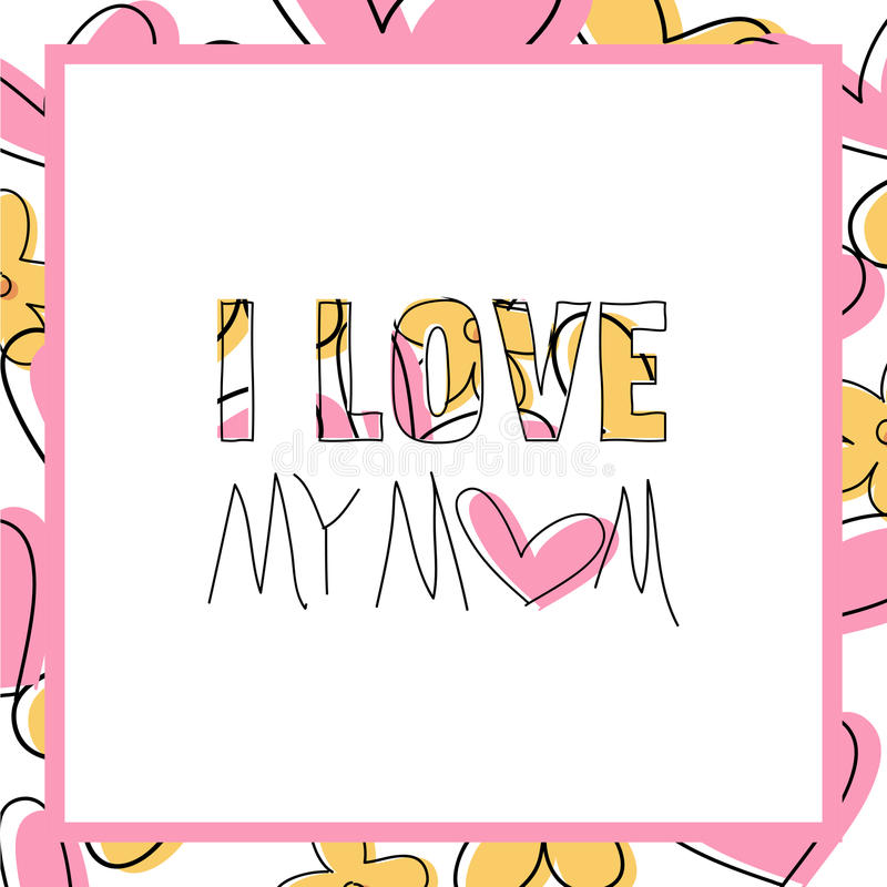 Ich Liebe Meine Mutter - Karte - Mitteilung - Bemuttern