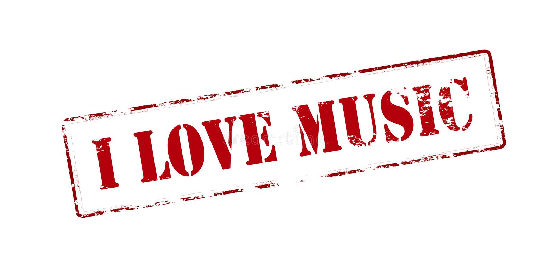 Ich liebe Musik lizenzfreie abbildung