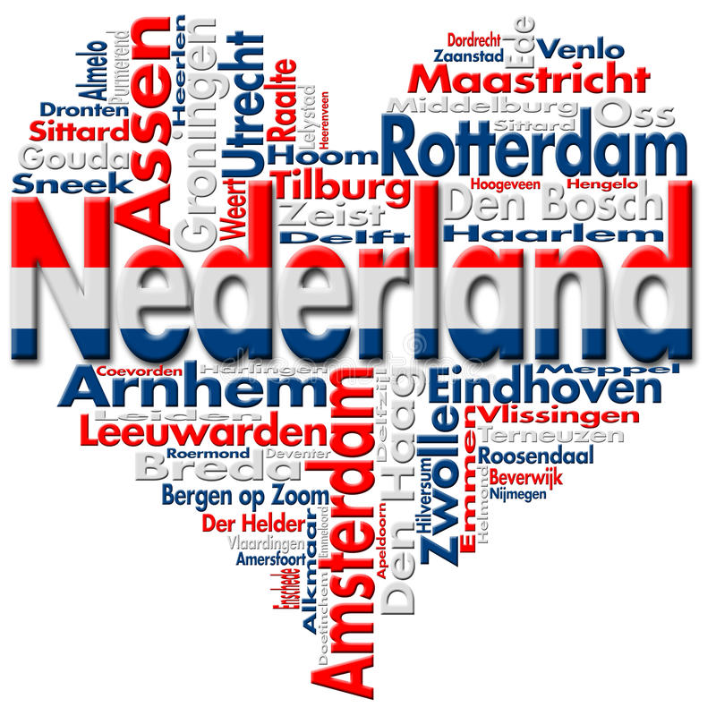 Ich liebe Nederland (die Niederlande) lizenzfreie abbildung
