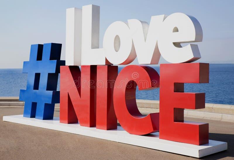 Ich liebe Nizza Zeichen stockfoto