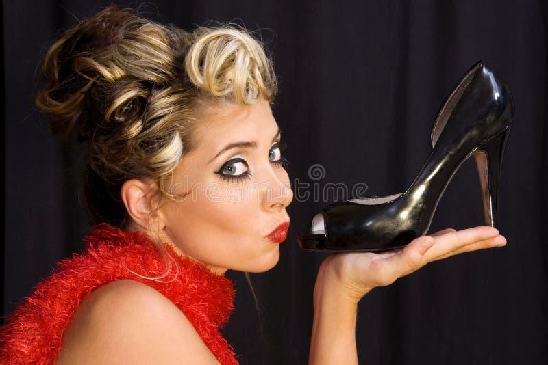 Ich liebe Schuhe! stockfotos