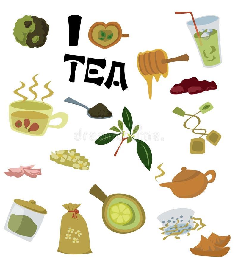 Ich liebe Tee lizenzfreie abbildung