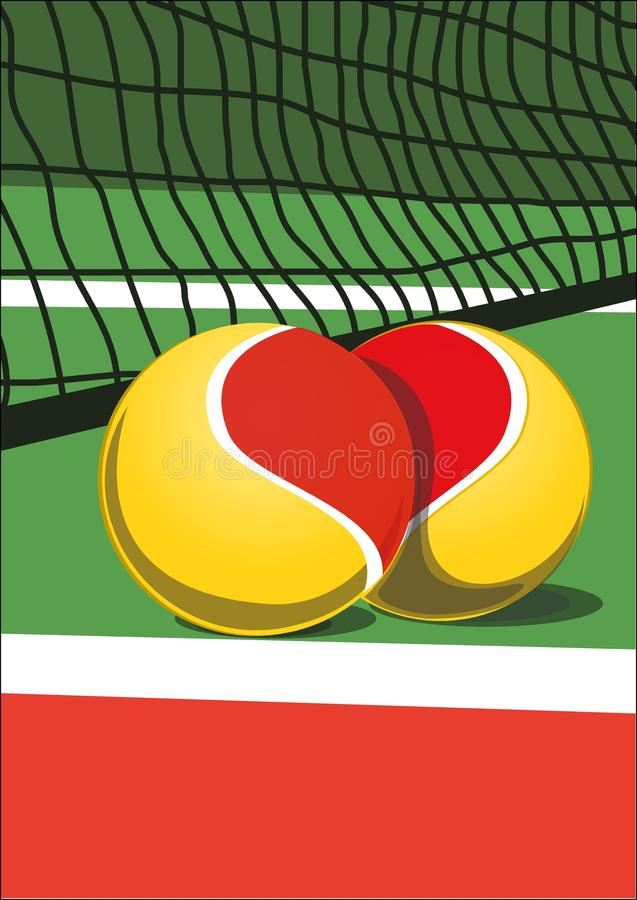 Ich liebe Tennis stock abbildung