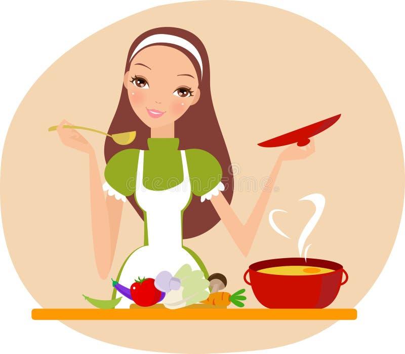 Ich liebe zu kochen lizenzfreie abbildung