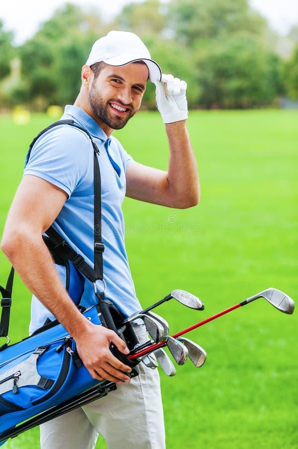 Ich mag Golf spielen! lizenzfreies stockfoto