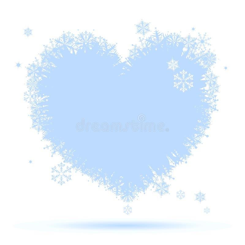 Ich mag Winter! Innerform der Schneeflocken stock abbildung