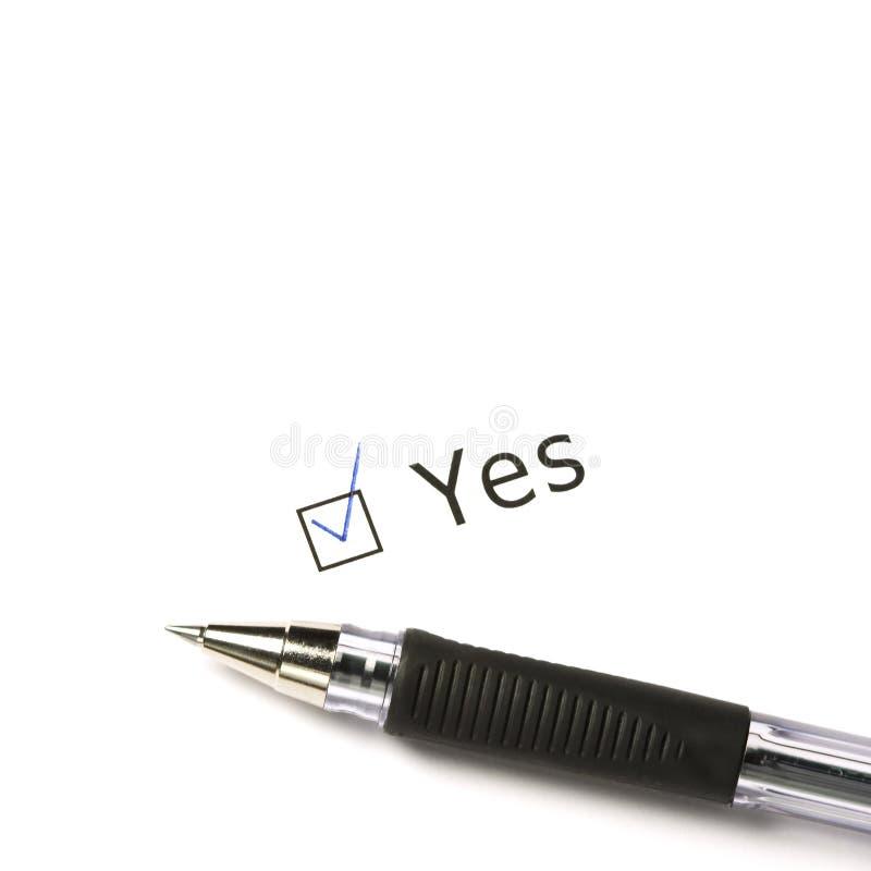 Ich sagte ja! lizenzfreie stockfotos