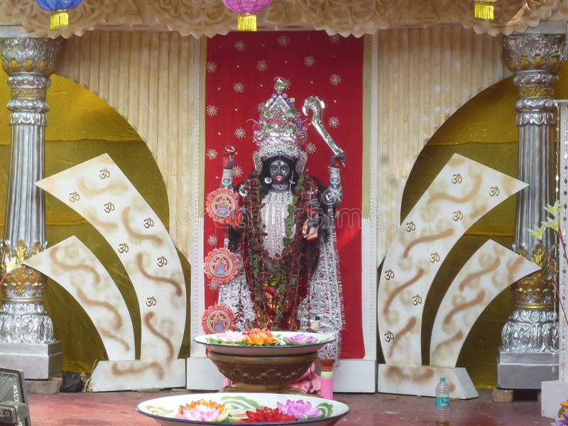 Ich sende das Bild indischen ` Göttin ` Maa Kali stockfotos