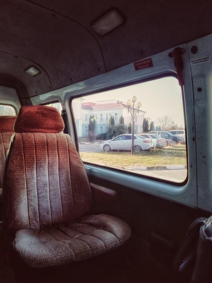 Ich sitze im Auto nach Hämodialyse stockfoto