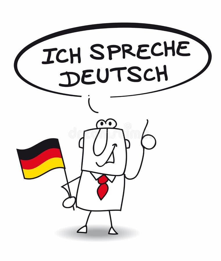 Ich spreche sehr gut deutsch vector illustration