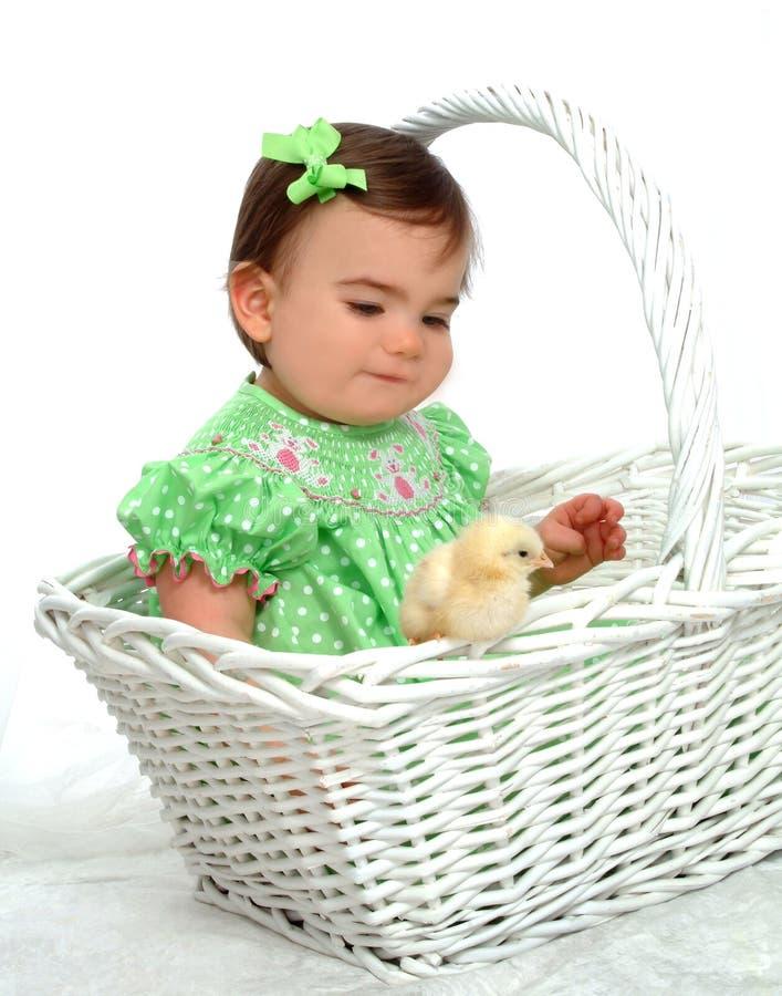 Ich und gelbes Huhn stockfotografie